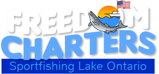 Freedom charters lake ontario salmon trout for Lifetime fishing license ny